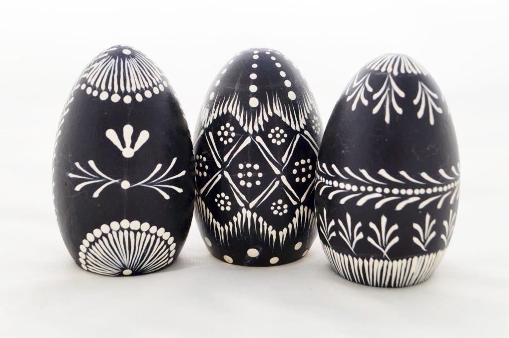 Huevos Pysanky imitación