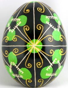 Huevos pysanky ucranianos motivos rastrillo