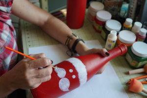 Santa Claus hecho a mano